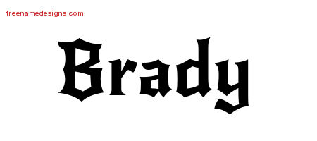Gothic Name Tattoo Designs Brady Download Free