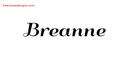 Art Deco Name Tattoo Designs Breanne Printable