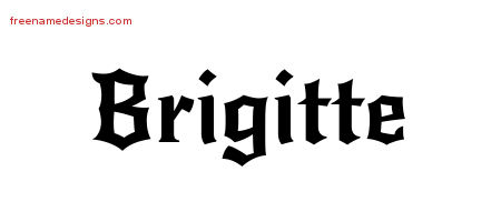 Gothic Name Tattoo Designs Brigitte Free Graphic