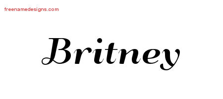 Art Deco Name Tattoo Designs Britney Printable