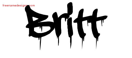 Graffiti Name Tattoo Designs Britt Free