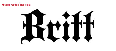 Old English Name Tattoo Designs Britt Free Lettering