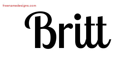Handwritten Name Tattoo Designs Britt Free Download