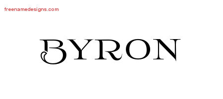 Flourishes Name Tattoo Designs Byron Graphic Download Free