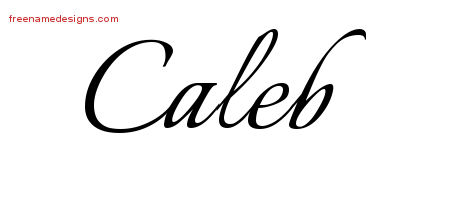 Calligraphic Name Tattoo Designs Caleb Free Graphic