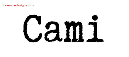 Typewriter Name Tattoo Designs Cami Free Download