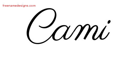 Classic Name Tattoo Designs Cami Graphic Download