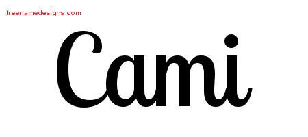 Handwritten Name Tattoo Designs Cami Free Download