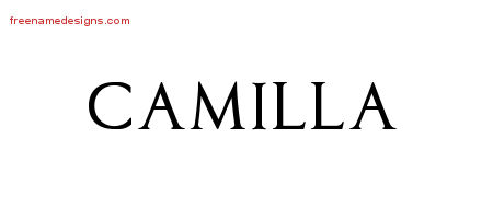 camilla archives free name designs