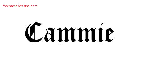 Blackletter Name Tattoo Designs Cammie Graphic Download