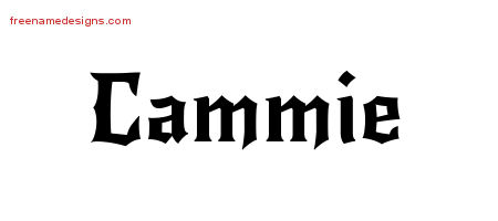 Gothic Name Tattoo Designs Cammie Free Graphic