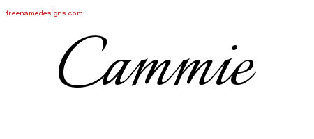 Calligraphic Name Tattoo Designs Cammie Download Free