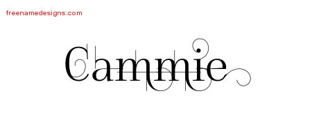 Decorated Name Tattoo Designs Cammie Free