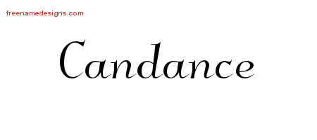 Elegant Name Tattoo Designs Candance Free Graphic