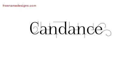 Decorated Name Tattoo Designs Candance Free