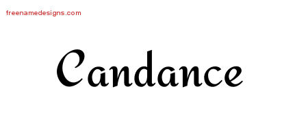 Calligraphic Stylish Name Tattoo Designs Candance Download Free