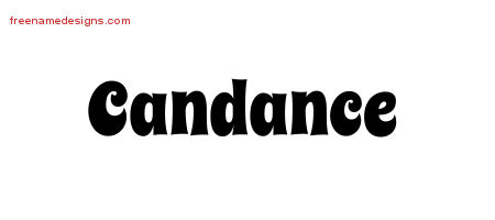 Groovy Name Tattoo Designs Candance Free Lettering