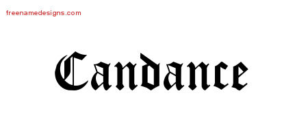 Blackletter Name Tattoo Designs Candance Graphic Download