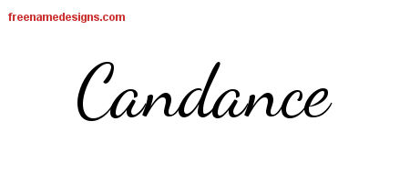 Lively Script Name Tattoo Designs Candance Free Printout