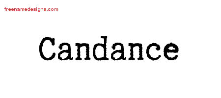 Typewriter Name Tattoo Designs Candance Free Download