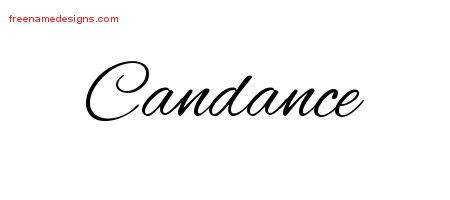 Cursive Name Tattoo Designs Candance Download Free