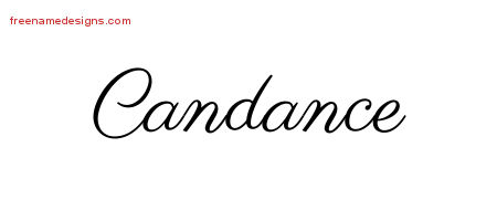 Classic Name Tattoo Designs Candance Graphic Download