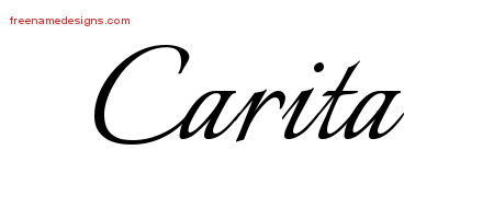 Calligraphic Name Tattoo Designs Carita Download Free