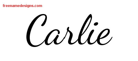 Lively Script Name Tattoo Designs Carlie Free Printout