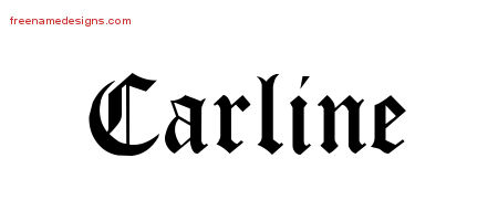 Blackletter Name Tattoo Designs Carline Graphic Download