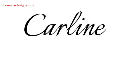 Calligraphic Name Tattoo Designs Carline Download Free