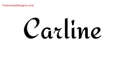 Calligraphic Stylish Name Tattoo Designs Carline Download Free