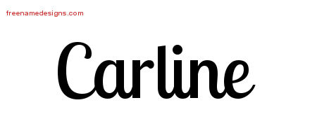 Handwritten Name Tattoo Designs Carline Free Download