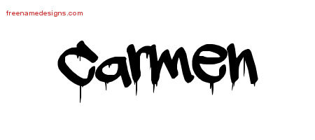 Graffiti Name Tattoo Designs Carmen Free