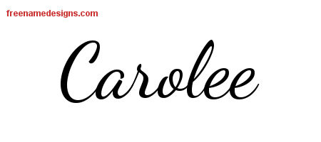 Lively Script Name Tattoo Designs Carolee Free Printout