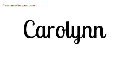 Handwritten Name Tattoo Designs Carolynn Free Download