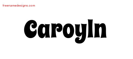 Groovy Name Tattoo Designs Caroyln Free Lettering