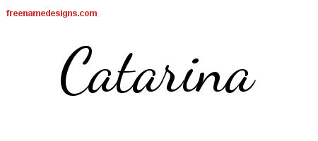 Lively Script Name Tattoo Designs Catarina Free Printout
