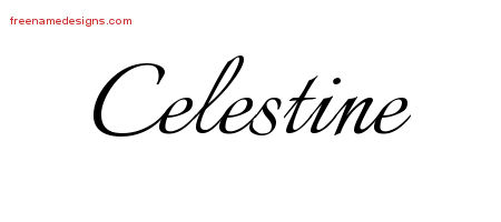 Calligraphic Name Tattoo Designs Celestine Download Free