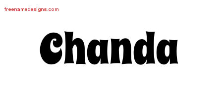 Groovy Name Tattoo Designs Chanda Free Lettering