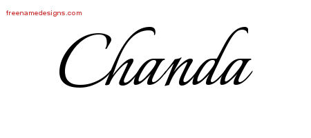Calligraphic Name Tattoo Designs Chanda Download Free