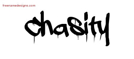 Graffiti Name Tattoo Designs Chasity Free Lettering
