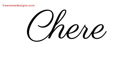 Classic Name Tattoo Designs Chere Graphic Download