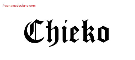 Blackletter Name Tattoo Designs Chieko Graphic Download