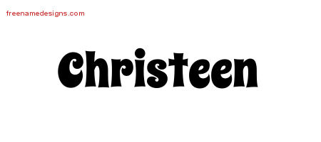 Groovy Name Tattoo Designs Christeen Free Lettering
