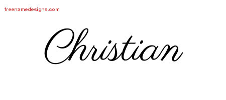 Classic Name Tattoo Designs Christian Graphic Download Free Name