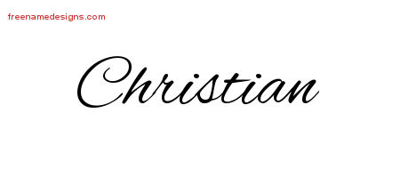 Cursive Name Tattoo Designs Christian Download Free Free Name Designs