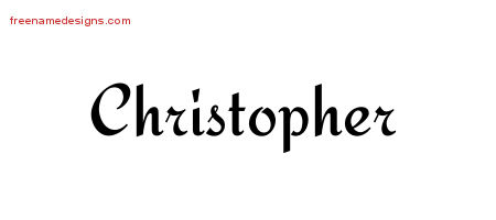 Calligraphic Stylish Name Tattoo Designs Christopher Download Free