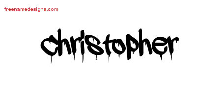 Graffiti Name Tattoo Designs Christopher Free Lettering