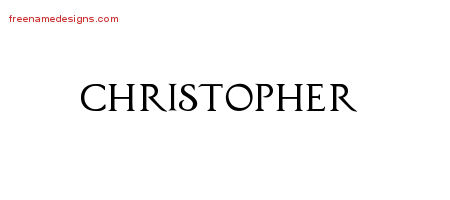 Regal Victorian Name Tattoo Designs Christopher Graphic Download