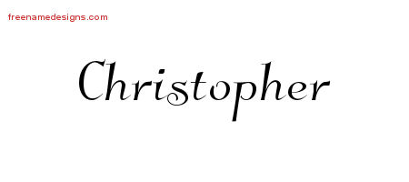 Elegant Name Tattoo Designs Christopher Download Free